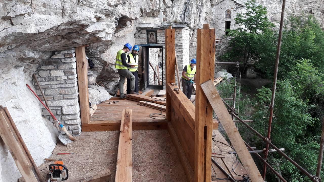 Студеница – обнова дрвеног моста у Горњој испосници
